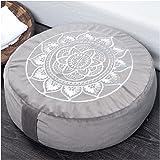 "Florensi Meditation Cushion (16""x16""x5""), Large Velvet Meditation Pillow, Premium Yoga Pillow for Women and Men, Yoga Cushion"