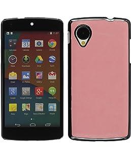 PhoneNatic Custodia Rigida Compatibile con Google Nexus 5 - Ottica Pelle Rosa - Cover + Pellicola Protettiva