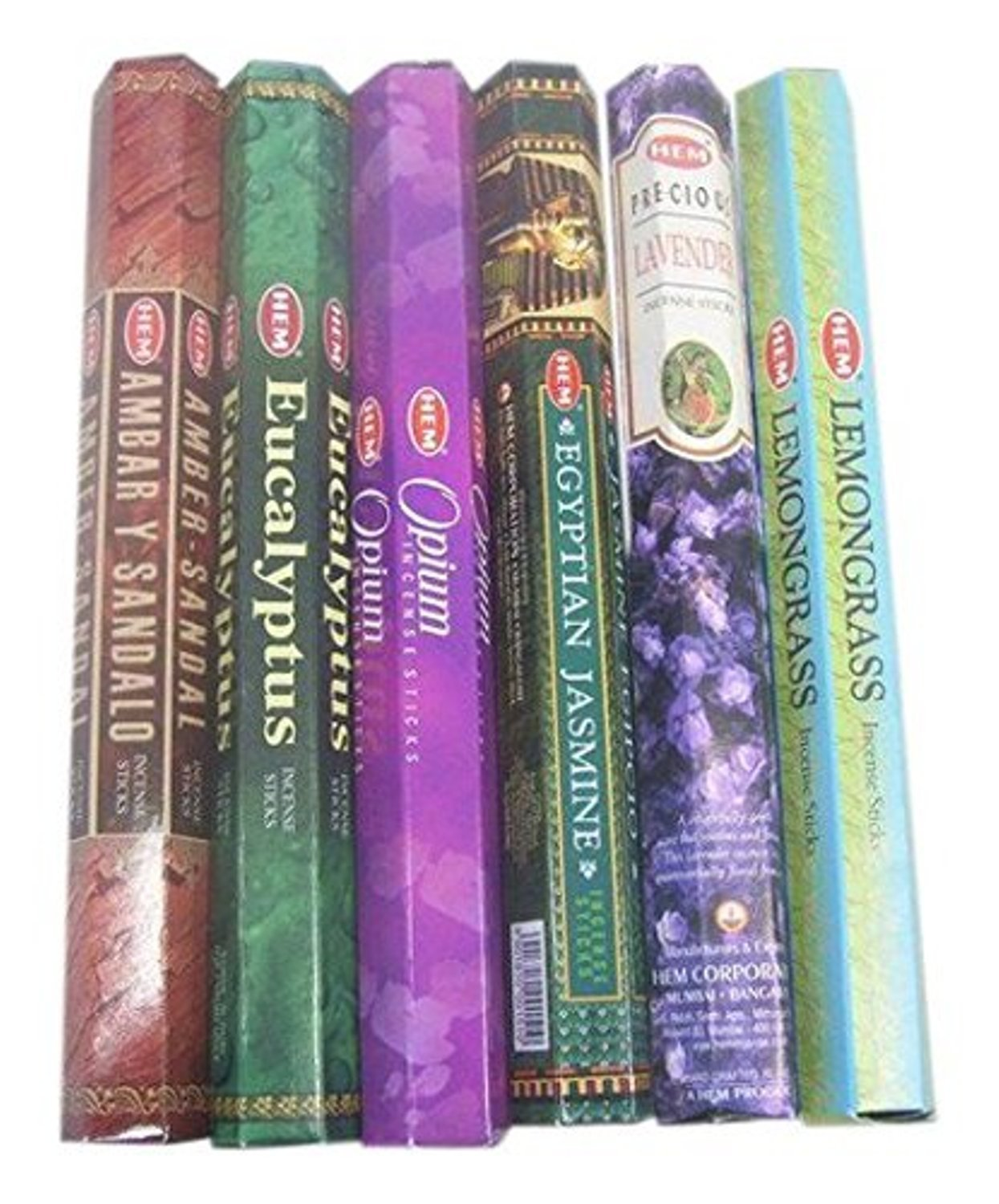 HEM Incense Sticks Best Sellers 6 Boxes X 20 Grams, Variety Pack, Total 120 Gm Pack Of 2 by HEM Collection