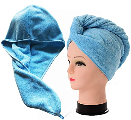 Home & Garden Bathroom Products Women Super Water Absorbent Hair Long Thicken Drying Towel Turban Bathing Cap Head Wrap Hat Keep You Fit All The Time