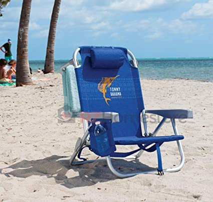 Amazon Com Tommy Bahama Backpack Beach Chair Blue With Sailfish
