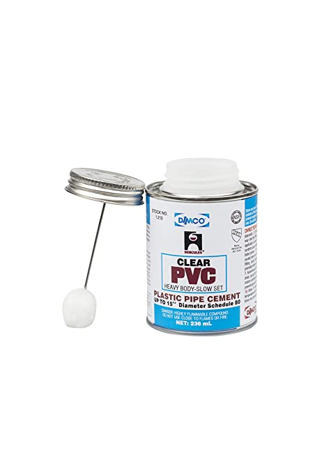Hercules PVC Clear Heavy Body Slow Set Cement - Made in The