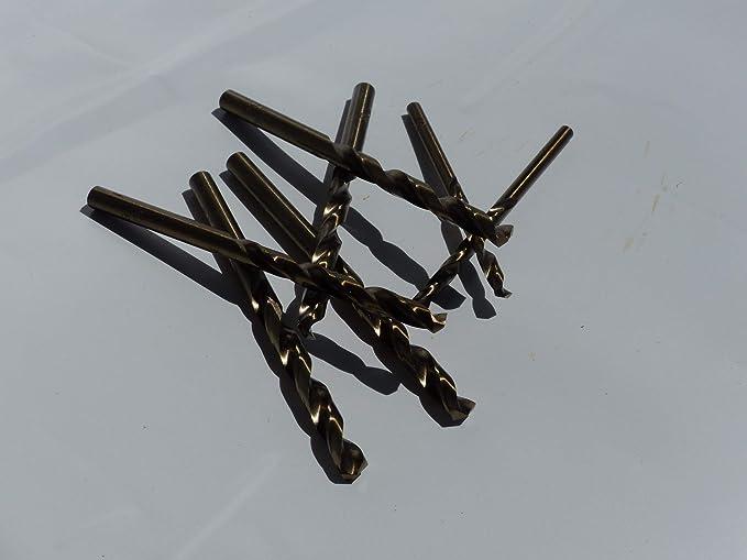 Rechtsschneidend HSS//Cobalt 5/% DIN 338 Bohrfux Metallbohrer Edelstahlbohrer /Ø 5,2mm Spiralbohrer kurz Typ N