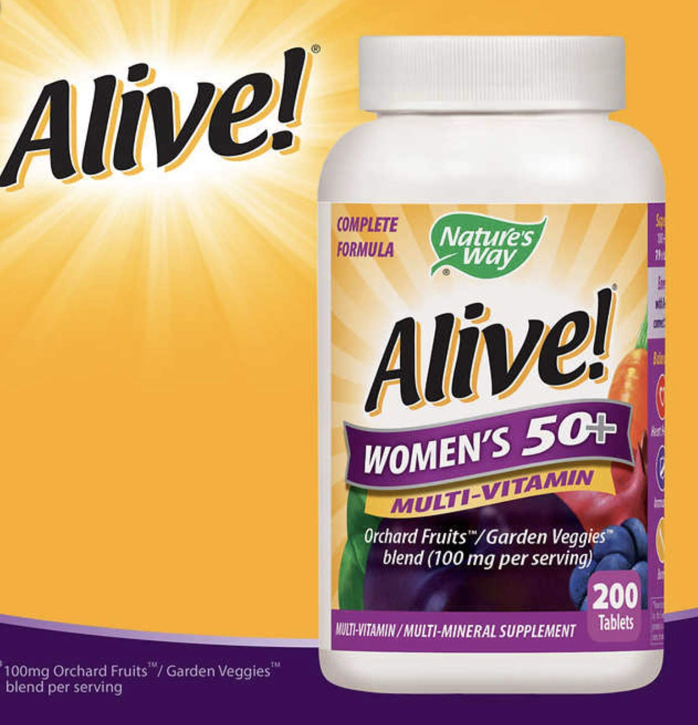 Nature's Way Alive! Once Daily Women's 50+ Multivitamin, Ultra Potency, Food Based Blends