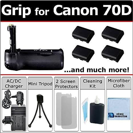 Multi-Power EOS 70d empuñadura de batería para Canon EOS 70d ...