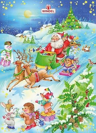 Windel Weihnachtskalender.Weihnachtsmotiv Klassik Adventskalender Mit Schokolade 1er Pack 1 X 75g