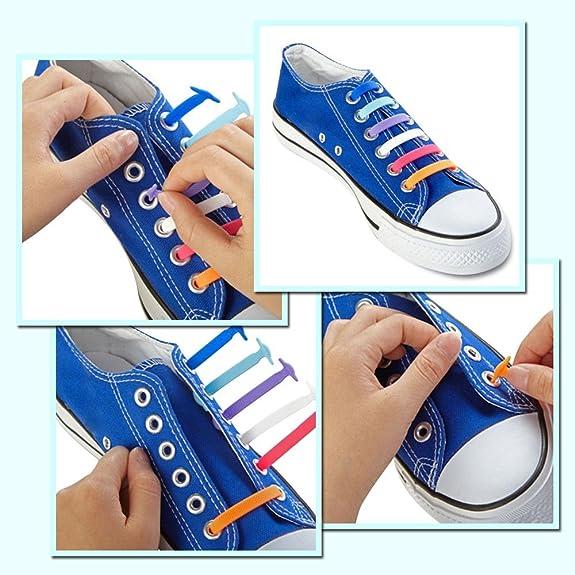 Joyshare sin corbata Cordones de zapatos para niños y adultos ...
