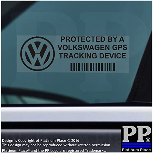 X PPVOLKSWAGENGPSBLK GPS BLACK Tracking Device Security WINDOW - Car window stickers amazon uk