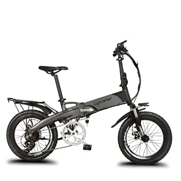 """Bicicleta plegable con asistencia eléctrica con portaequipajes trasero extrbici® XF500 20 """"36 V"""