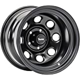 TACTIK Circle 8 Classic 15 Inch Wheel for Jeep Wrangler 1987-2006, 5x4.5 Bolt Pattern, 15x8 (-12.7mm Offset), 4 Inch Backspac