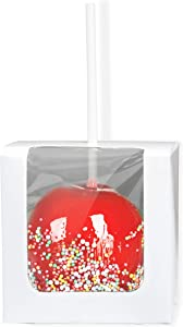 Candy Apple Boxes with Candy Apple Sticks Kit for Candy Carmel Apples, Set of 20