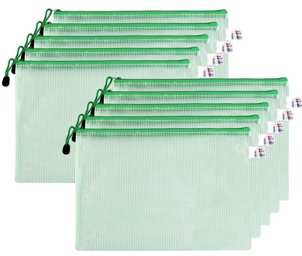 A4 Kunststoff grid zipper Papier Ordner Ordner Ordner Netzwerk Aufbewahrungstasche Tasche (10er-Pack), Weiß B07C16FWNJ | Shop Düsseldorf  2cd6fd