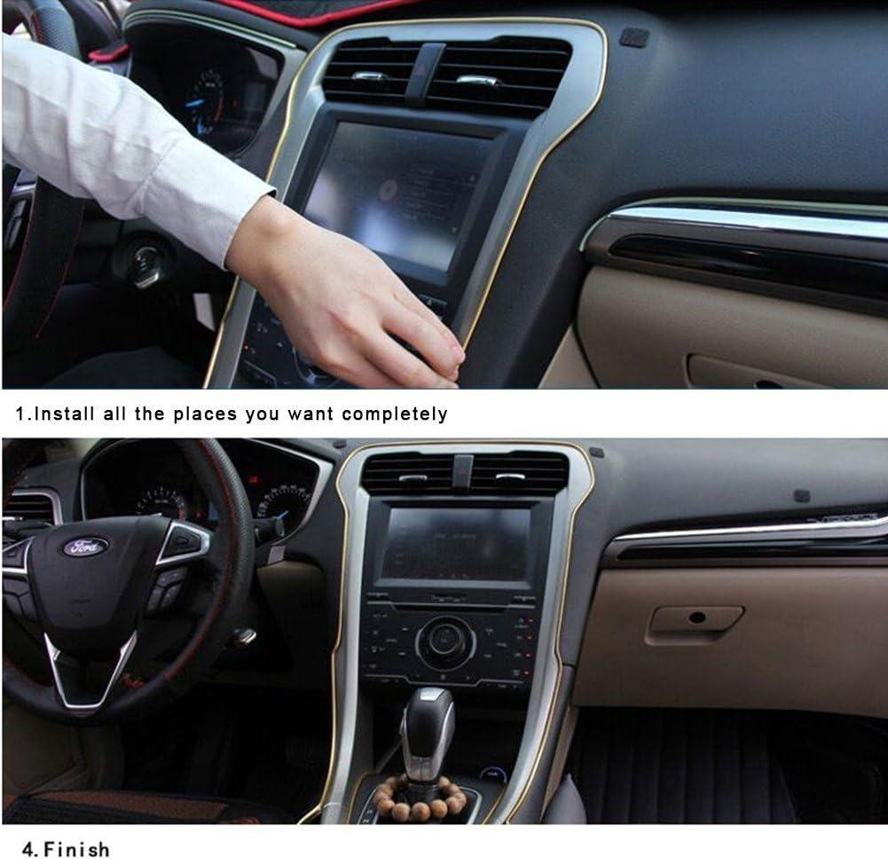 per tutte le auto universale automobile confezione da 2 cuciture flessibili modanatura per interni set decorativo per auto da 5/m accessorio decorativo Rgtopone