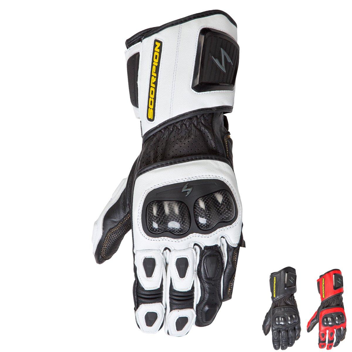 ScorpionExo SG3 MKII Men's Long Gauntlet Sport Gloves (White, X-Large)