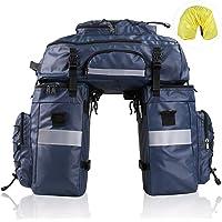 Rhinowalk Fietstas, 3-in-1 multifunctionele bagagedrager, 65 liter, scheurvast, grote fietstas met regenhoes