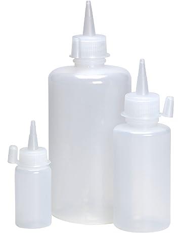 Azlon BGE820PNC - Bote de plástico con tapa y pitorro (LDPE, 60 ml,