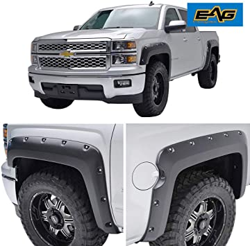 5.8ft Short Bed 2007-2013 Chevy Silverado TYGER Factory Style Fender Flares