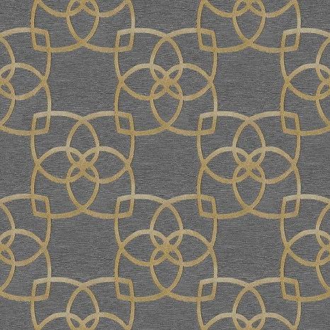 Marrakech Geometric Wallpaper Gold And Grey Muriva 601537 Amazon