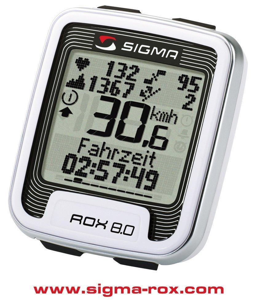 Sigma Rox 8.0 - Cuentakilómetros multifunción con pulsómetro, color ...