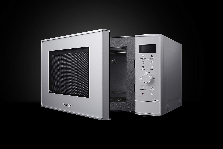 Panasonic NN-GD34H - Microondas con Grill (1000 W, 23 L, 6 niveles, Grill Cuarzo 1100 W, Plato Giratorio 285 mm, Control tácti L, 13 modos, Turbo ...