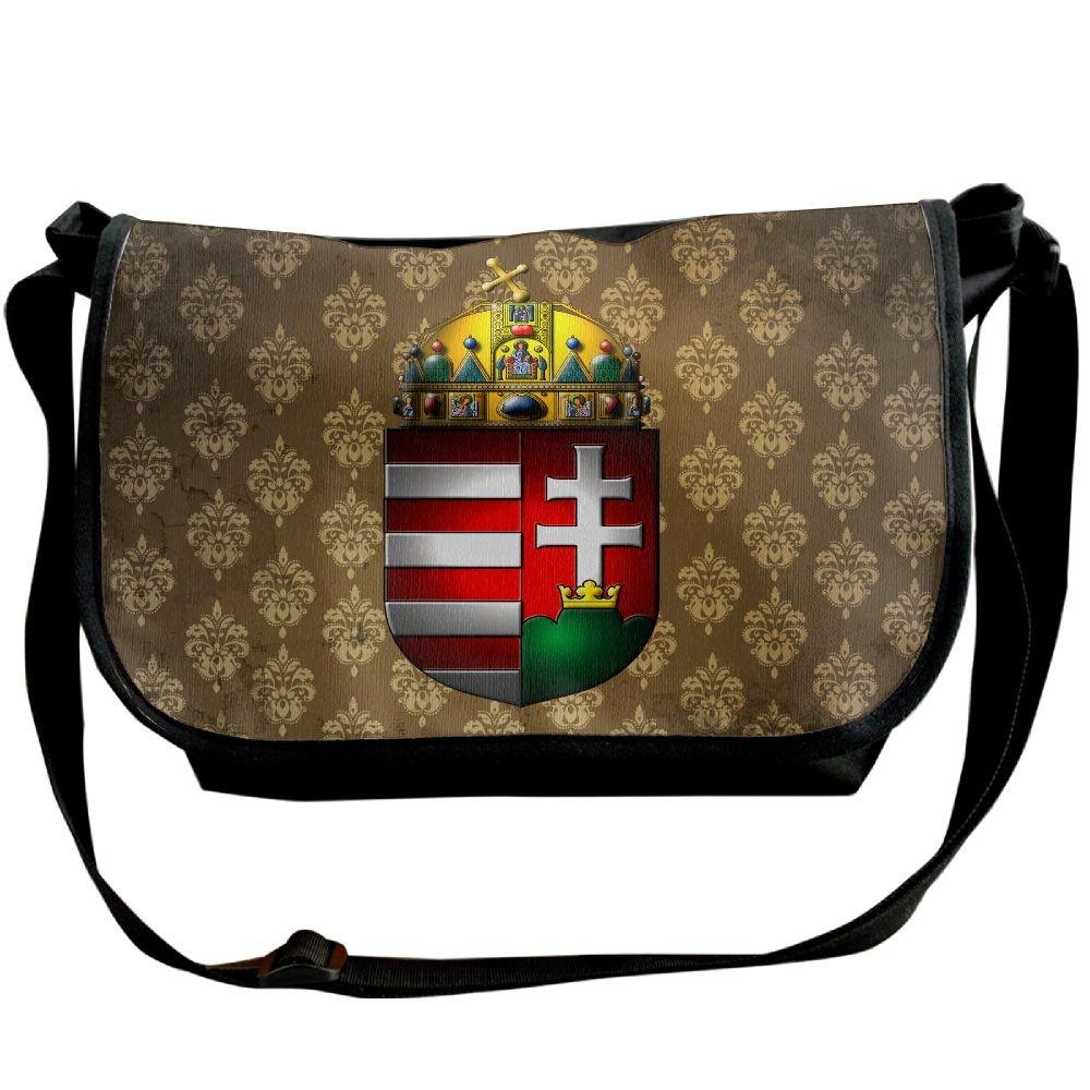 Lov6eoorheeb Unisex Coat Of Arms Of Hungary Wide Diagonal Shoulder Bag Adjustable Shoulder Tote Bag Single Shoulder Backpack For Work,School,Daily