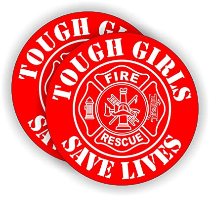 FIRE MEDIC REFLECTIVE FIRE HELMET CRESCENT DECALS A PAIR
