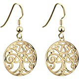 Tree of Life Earrings Gold Plated Made in Ireland