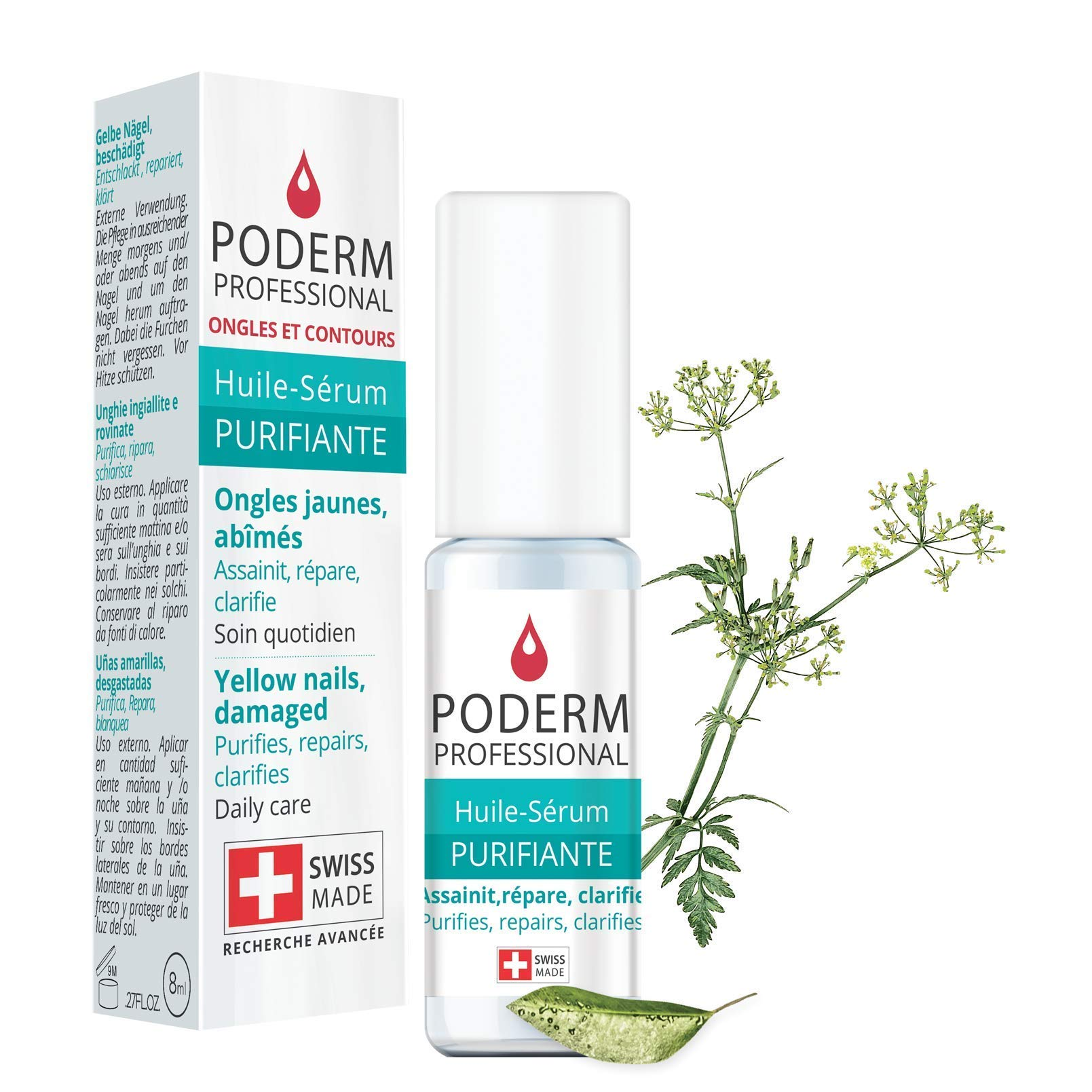 -Plant-based Powerful Antifungal, Repairing, Purifying and Revitalizing Treatment for Nails Professional Hand/Foot care.Quick & Easy. Made in Switzerland.