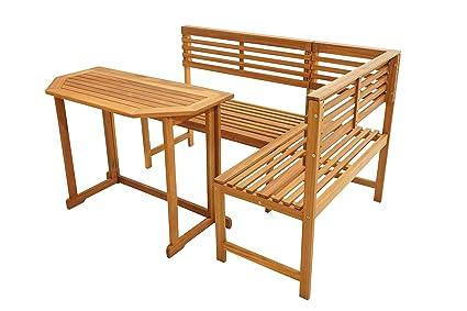 Amazon De Ploss Paxos Balkon Set Aus Akazie Mit Tisch