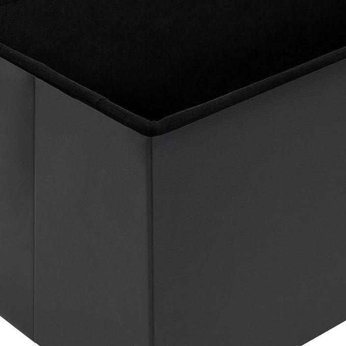 Contemporáneo Blackwhite De Almacenamiento De Muebles Otomana ...