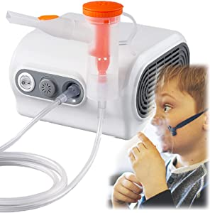 Portable Compressor Nebulizer Comes with a Set of Accessories, Nebulizer Machine, Desktop Nebulizer Cool Mist Compressor System for Kids Adults Home Use