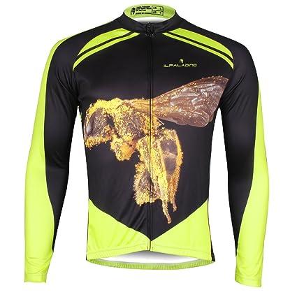 Ilpaladino Men s Long Sleeve Jersey Bumblebee Pattern Bike Shirts Size XXS 13ce60853
