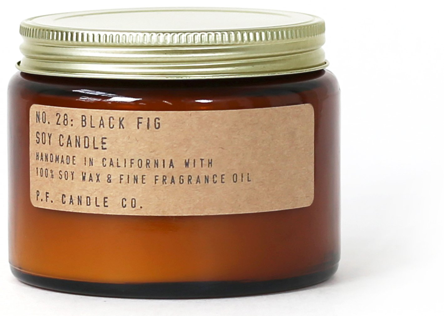 P.F. Candle Co. - No. 28: Black Fig Soy Candle (Double Wick (14 oz))
