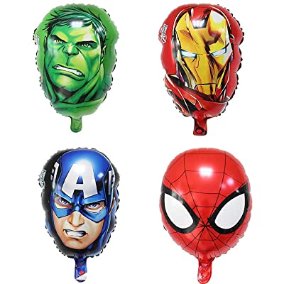 Bsstr Superhero Birthday Party Decorations Kids Birthday Party Supplies Avengers Super hero Balloons Perfect For Your Kids Theme Party: Toys & Games