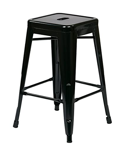 Amazoncom Osp Designs Patterson 24 Inch Metal Backless Barstool