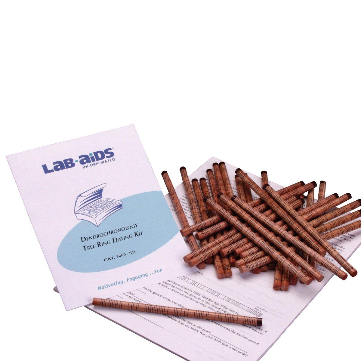 Lab-Aids Dendrochronology - Kit de anillos de árbol para citas 52
