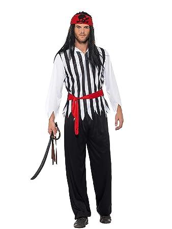Smiffy s 47205 X L disfraz de pirata, para hombre, negro, xl-uk ...