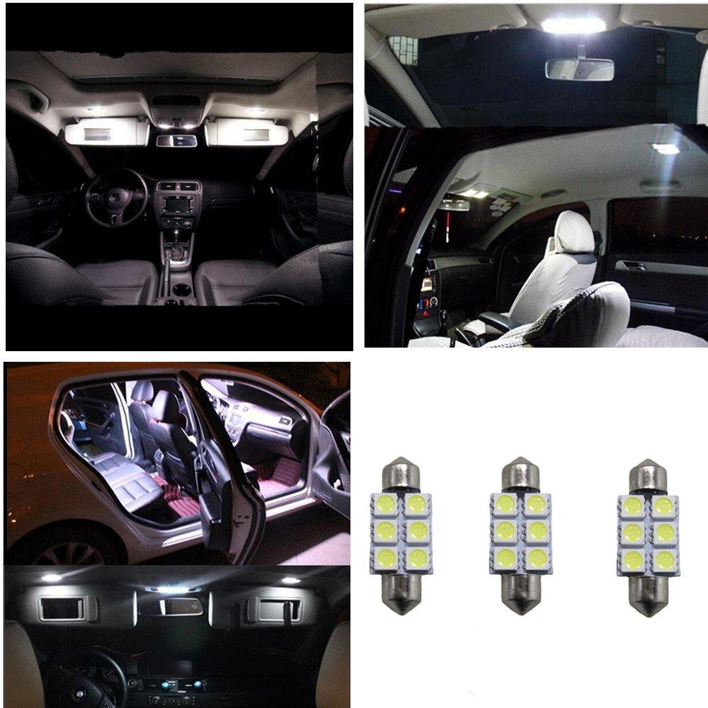muchkey 8x SMD Intrieur Festoon C10W LED Ampoule pour Trafic VIV 3Blanc 42mm