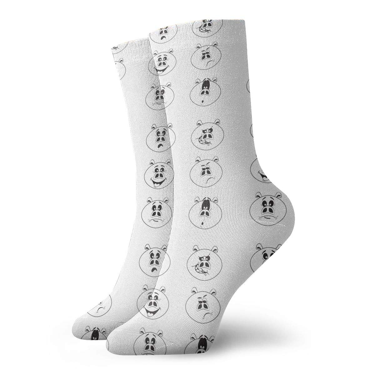 Unisex Funny Pigs Athletic Quarter Ankle Print Breathable Hiking Running Socks