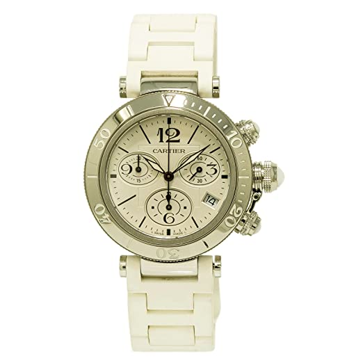 Cartier Pasha Cuarzo Mujer Reloj w3140005 (Certificado) de Segunda Mano: Cartier: Amazon.es: Relojes