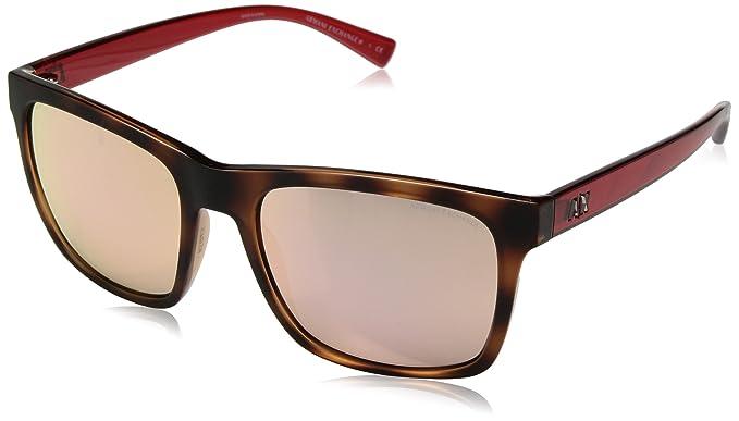 f31d5290dea Image Unavailable. Image not available for. Color  Armani Exchange Men s  Injected Man Non-Polarized Iridium Square Sunglasses ...