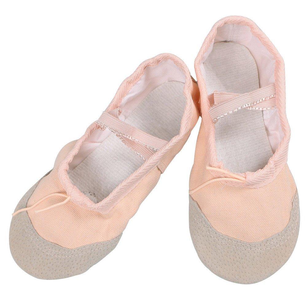 BAOHULU Girls Ballet Dance Ballerina Short Sleeve Tutu Skirted Leotard (2M US Little Kid, Apricot Shoes) by BAOHULU
