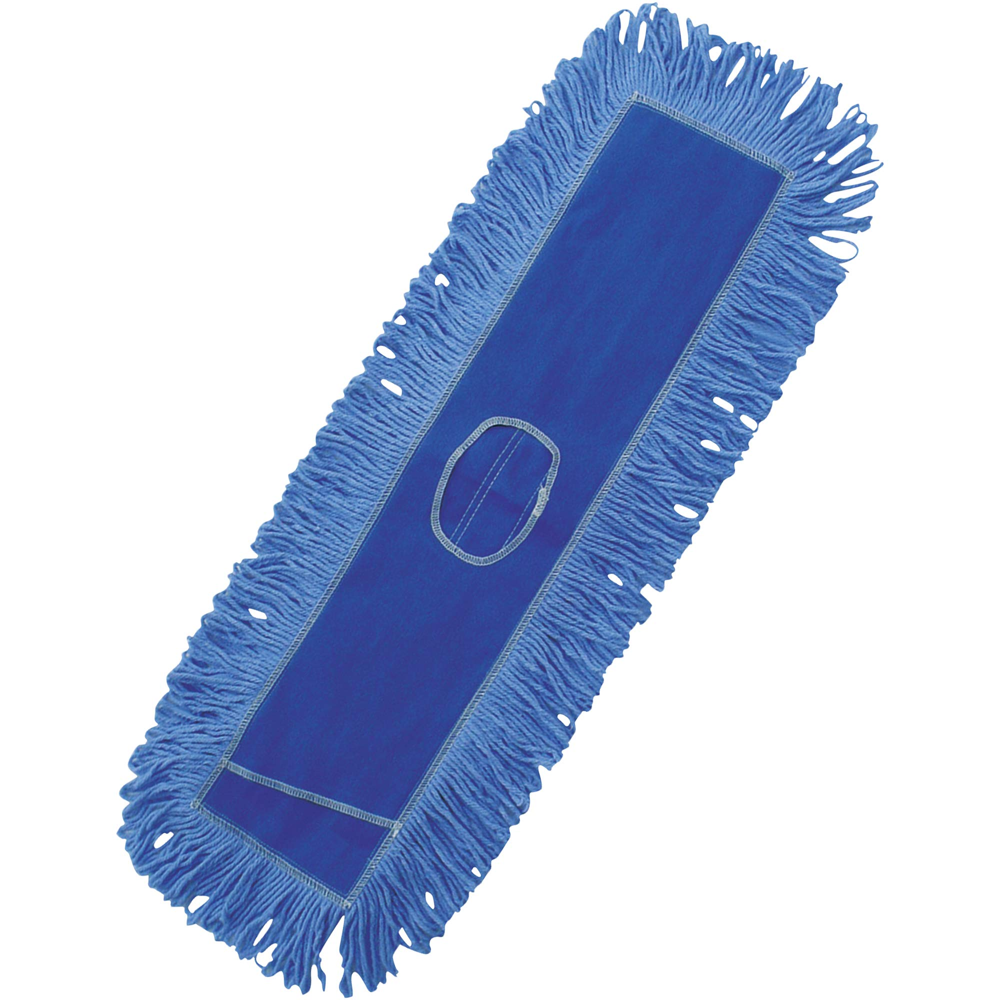 Deluxe Looped-End Dust Mop Head, 24'', Blue, 1/Each
