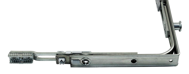 170x170mm incl SN-TEC Montagematerial Roto Eckumlenkung 1017 mit 1x Pilzkopf Schlie/ßzapfen