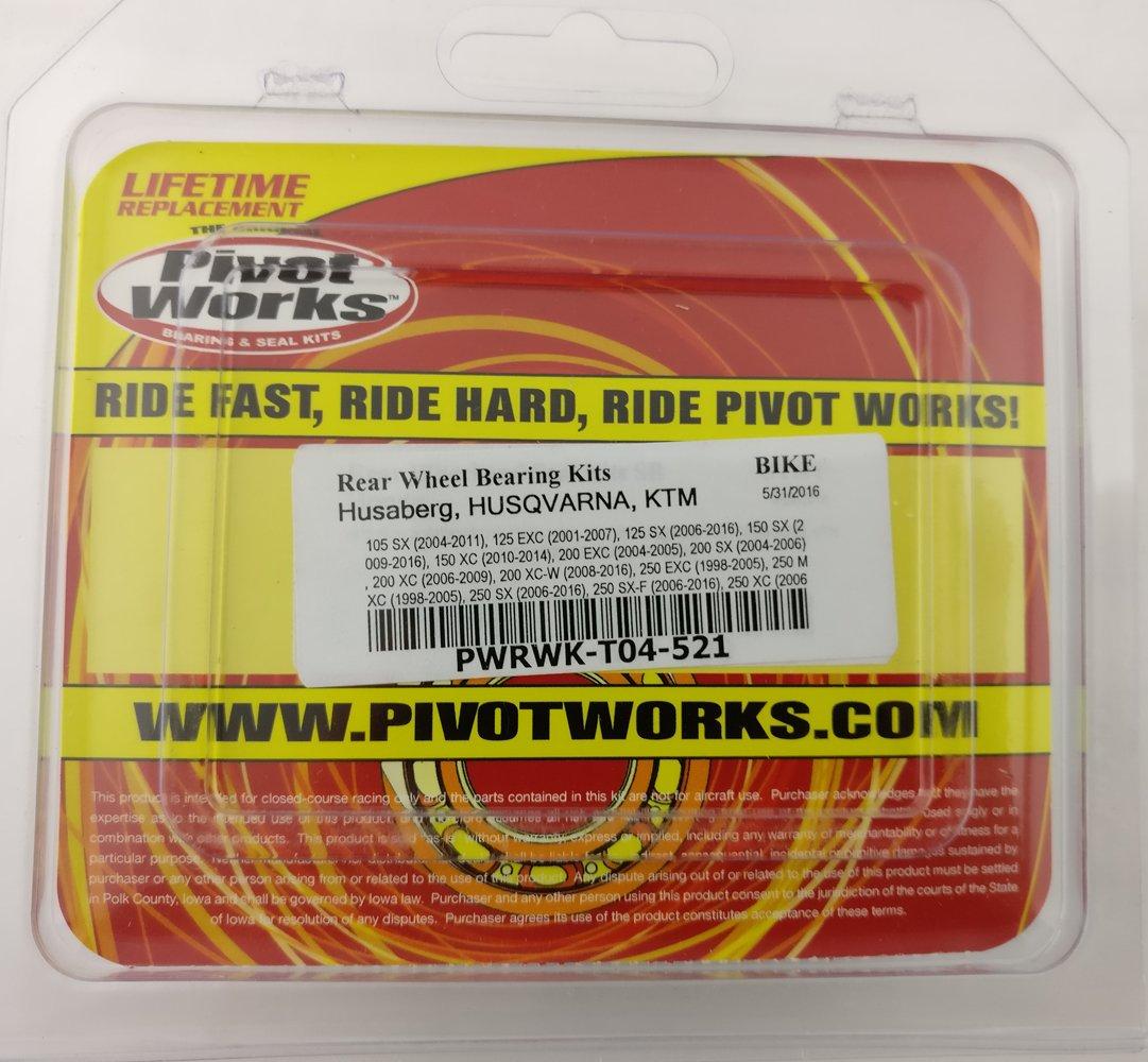 Pivot Works PWRWK-T04-521 Rear Wheel Bearing Kit