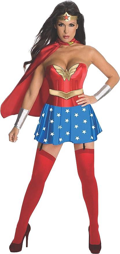 Rubies Disfraz de Wonder Woman Oficial con corsé para Adultos ...