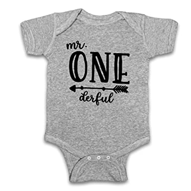Oliver And Olivia Apparel Mr Onederful Baby Boys First Birthday Bodysuit 1st Shirt