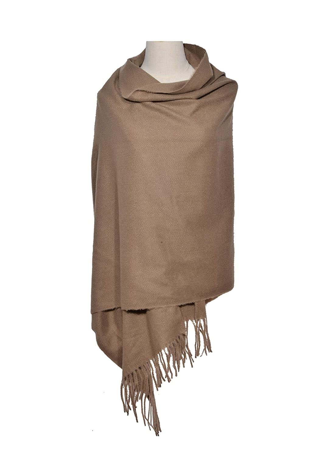 Woogwin Womens Warm wrap Shawl Solid Winter Scarves Large Fashion Scarf for Ladies darkgreen