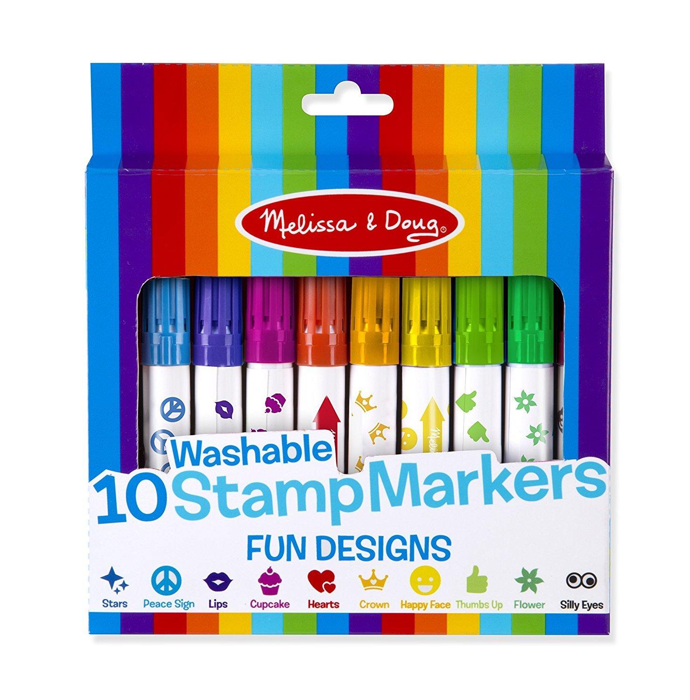 10 Fun Design Stamp Markers & Felt Chalk Eraser + a FREE Mini Scratch Art Set from Lake Arrowhead