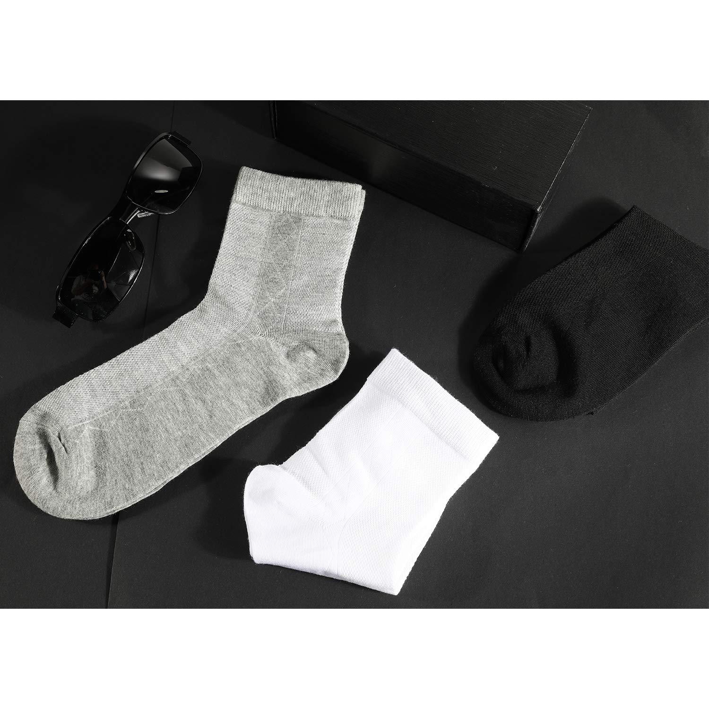 Maille Respirante Rovtop Chaussettes pour Hommes 12 Paires Chaussettes de Sport Socquettes Hommes pour la Vie quodienne Blanc, Noir, Gris /…